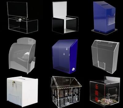 Acrylic ballot box & donation box