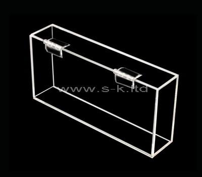 SKLS-001-2 Acrylic box with hinged lid