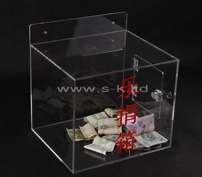 SKLB-006-1 clear acrylic donation box
