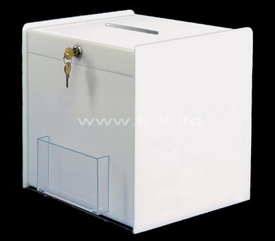 white ceramic money box