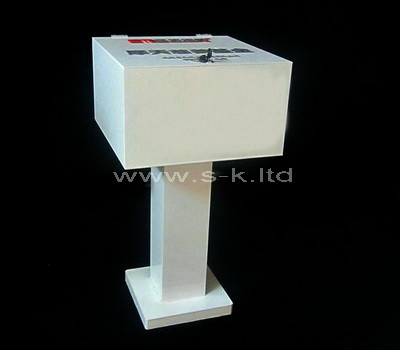 floor standing donation box