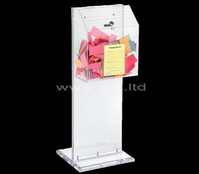 floor standing acrylic ballot box