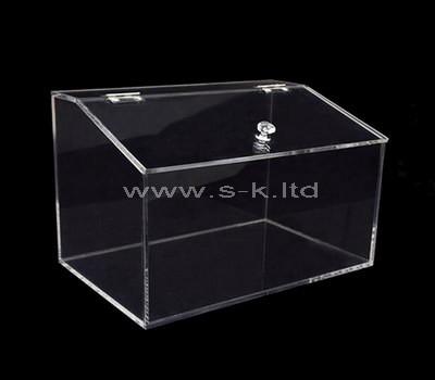 transparent display case