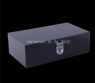 small black storage box with lid