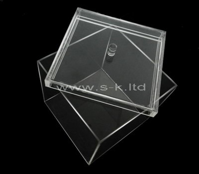 square acrylic box with lid