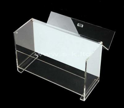 slim storage box with lid