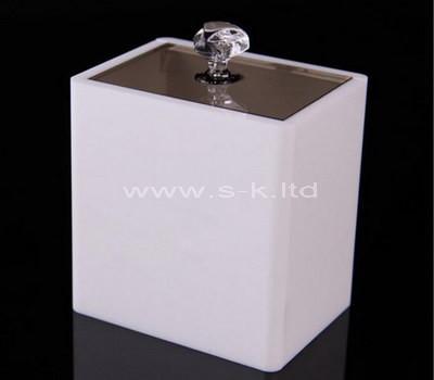 white storage box with lid