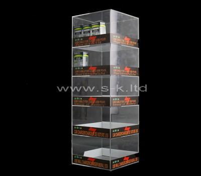 acrylic tall display cabinet