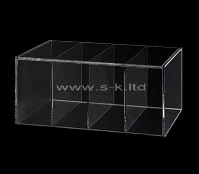 clear acrylic 4 compartment box