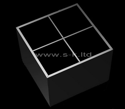 black acrylic 4 compartment box