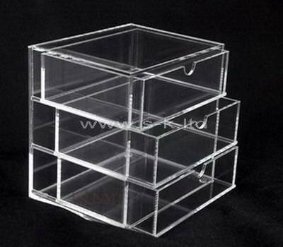clear plastic drawer box