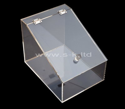 large clear perspex box