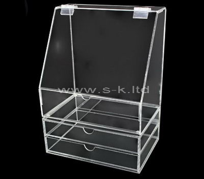 clear plexiglass display box