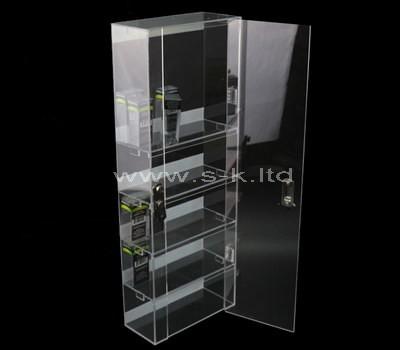 clear acrylic lockable display cabinet
