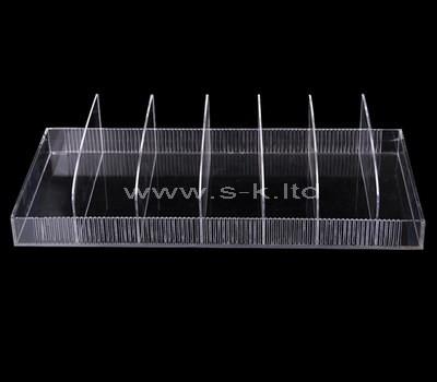 acrylic multi compartment storage box