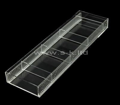lucite 4 compartment box