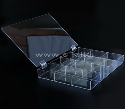 acrylic 16 compartment storage box