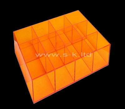 yellow 8 compartment storage box