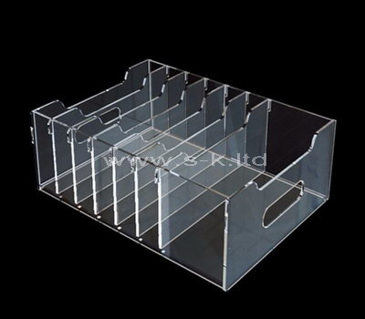 acrylic clear compartment storage box