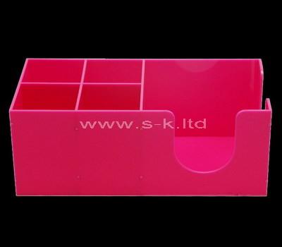 acrylic 5 compartment storage box