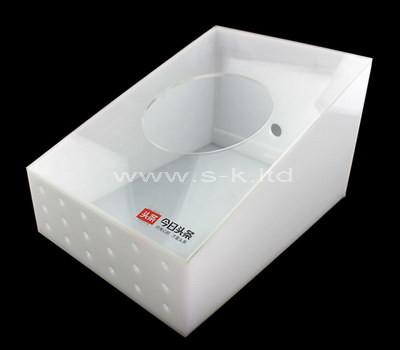 white plastic storage box
