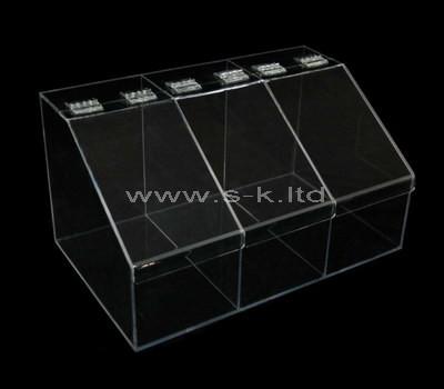 acrylic storage box with lid