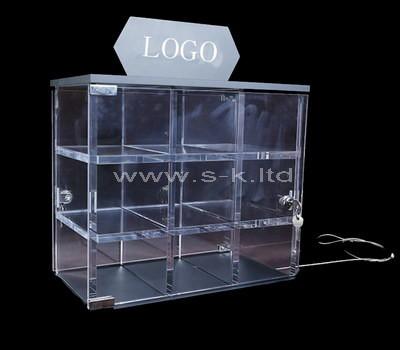 lucite locking display cabinet