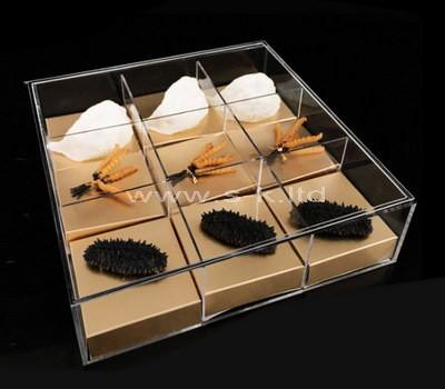 lucite compartment box