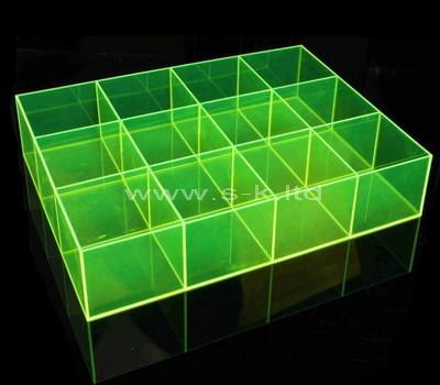 green 12 compartment plastic storage box