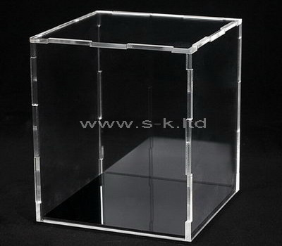lucite tall display case