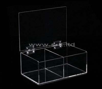 clear 2 compartment box