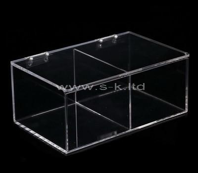 transparent 2 compartment box
