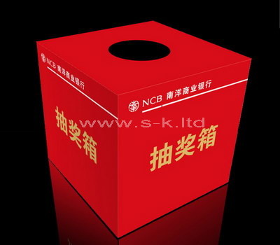 acrylic raffle ticket box