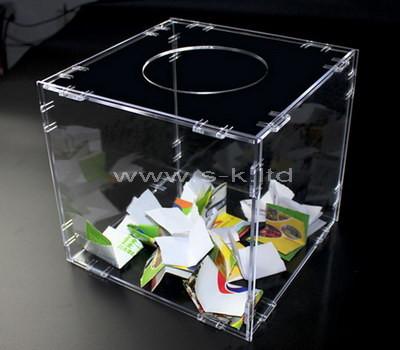 clear plastic raffle box