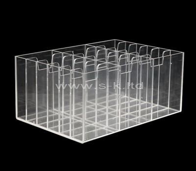 acrylic 18 compartment storage box
