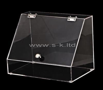 plexiglass storage box with lid