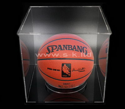 clear basketball display case