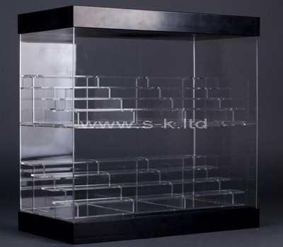 plexiglass clear display cabinet