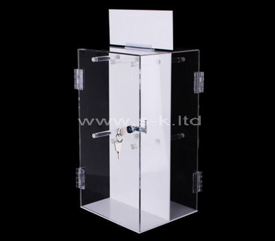 plexiglass lockable display cabinet