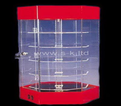 plexiglass locking display cabinet