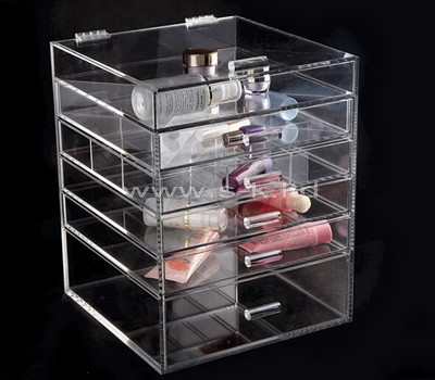 acrylic 5 drawer storage unit
