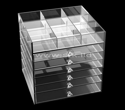 acrylic 6 drawer storage unit