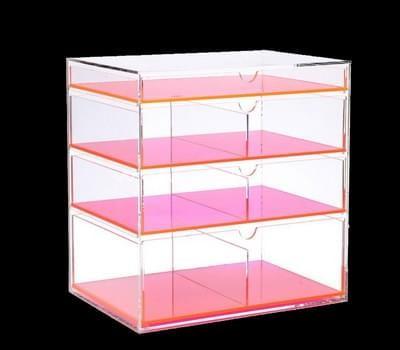 acrylic four drawer storage