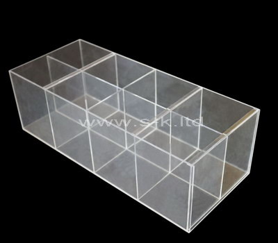 acrylic 8 compartment plastic box