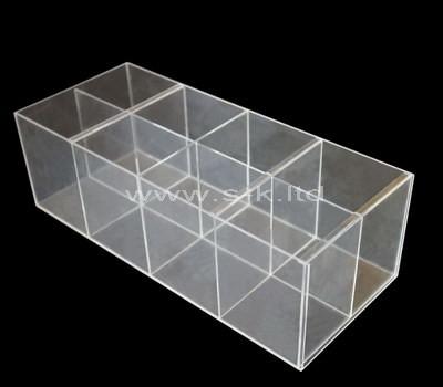 acrylic 8 compartment plastic box