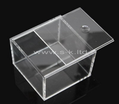 lucite rectangular storage box with lid