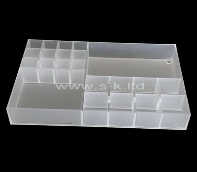 perspex multi compartment storage box