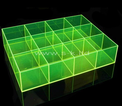 acrylic clear compartment box