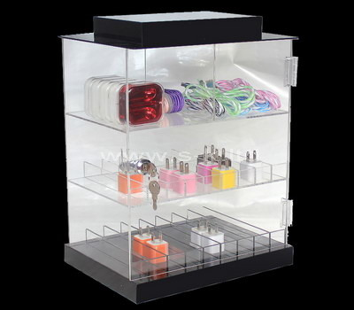 plexiglass small corner display cabinet