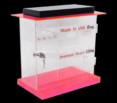 lucite curio display cabinet